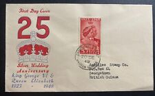 1948 British Guiana First Day Cover FDC Royal silver Wedding King George VI