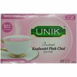 Unik Instant Kashmiri Pink Tea Pre Mix Sweetened  UK Seller