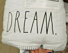 NWT Rae Dunn White Queen Full 'Sweet Dreams' LL Dot Quilt Set Bedding Home Decor