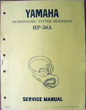 Yamaha HP-50A Orthodynamic Headphone Original Service Manual Schematics Booklet