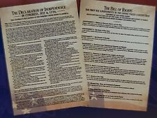 The Declaration Of Independence & Bill Of Rights ~ Educational History Posters