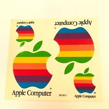 Vtg Apple Computers Mac Macintosh Rainbow Apple Logo Sticker Decal 1 Sheet
