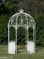 ivory French style WROUGHT IRON arch portico GARDEN GAZEBO PAVILION new