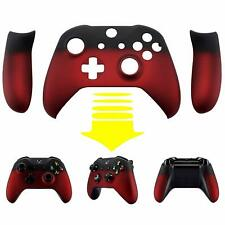 Xbox One X Controller Faceplate Cover Front Housing Shell Shadow Red Soft Touch