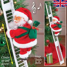 Musical Climbing Ladder Santa Claus Christmas Xmas Figurine Ornament Decor