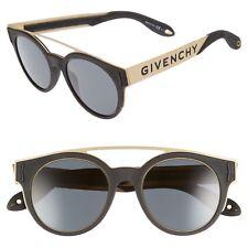 GIVENCHY Black & Gold Logo Sunglasses GV 7017/N/S