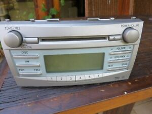 2009 TOYOTA CAMRY STEREO/HEAD UNIT SINGLE CD PLAYER 04/2009 TO 11/2011