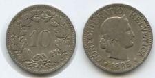 G3325 - Schweiz 10 Rappen 1885 B KM#27 Switzerland  Suisse