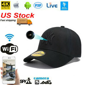 New app Live streaming Hat wifi IP Hidden Spy Cap network Camera Video Recorder