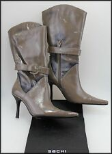 SACHI WOMEN'S MID CALF HIGH HEEL ZIP-UP FASHION BOOTS SIZE 6.5