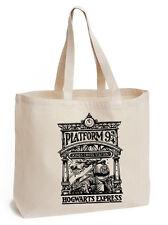 HARRY Potter KingsCross platform 9 3/4 Cotone Tote ECO TELA HOGWARTS BAG