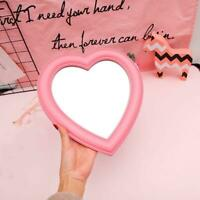 Portable Heart-Shaped Love Makeup Mirror Posted Hanging Mirror Girl Gift NEW