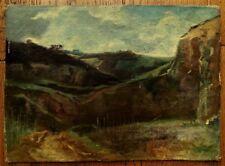 Paysage impressionniste - Huile sur toile