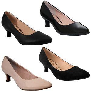 LADIES BLACK COMFORT PLUS SLIP ON COURT WORK WIDE FIT SHOES,LOW HEEL 3-8 TEXAS