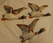 Ceramic Duck Collection Hand Painted Occupied Japan Lot 3  Wall Hangings POCKETS