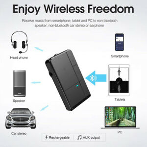 Bluetooth Receiver Portable Wireless 3.5mm AUX Jack Stereo Music BT 5.0 Adapter*