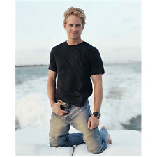Paul Walker on Back of Boat Holding Buckle 8 x 10 Inch Photo