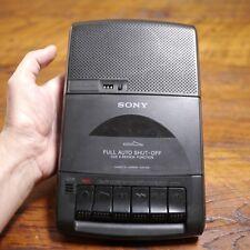 Sony Tcm-929 Black Automatic Shut-Off Cassette Recorder w/ Handle Works