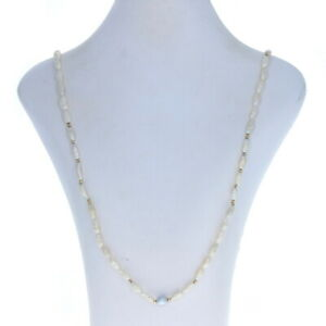 """Cultured Pearl & Freshwater Keshi Pearl Necklace 36 1/2"""" - 14k Gold Beads Strand"""