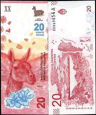Argentina 2017,  20 Pesos,  Series A,  Banknote UNC