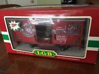 LGB # 43352 CHRISTMAS SANTA BOXCAR WITH SOUND