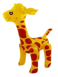 59cm INFLATABLE GIRAFFE ZOO SAFARI ANIMAL - BLOW UP INFLATE FUN KIDS PARTY TOY