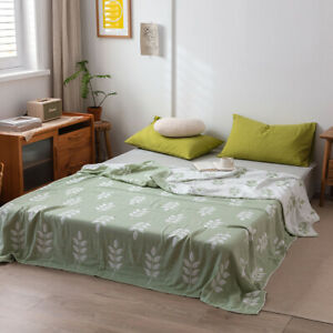 gauze of four layers breathable blanket pure cotton active printing bed sheet