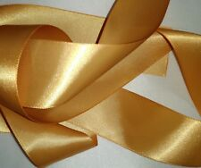 """Gold Double Faced Satin Ribbon 1 1/2"""" wide priced for each 3 yards continuous"""