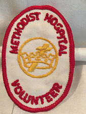 Vintage Collectible Methodist Hospital Volunteer Cotton Uniform Patch NOS RARE