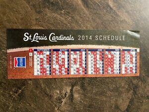 2014 St. Louis Cardinals Magnet Schedule