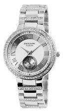 excellanc 1524 Reloj de pulsera mujer color plata Piedras Estrás METAL