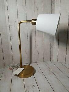 "New Project 62 Table Lamp Brass Finish USB Port 18"" Tall"