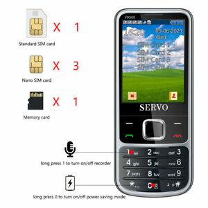 Quad SIM 4 SIM Card Mobile Phone SERVO 9500 Magic Voice Phone come With 23 Games