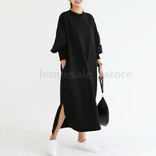 ZANZEA Women Long Sleeve Batwing Sleeve Loose Baggy Casual Long Maxi Dress Plus