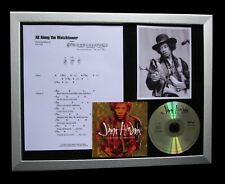 JIMI HENDRIX All Along Watchtower LTD MUSIC CD FRAMED DISPLAY+FAST GLOBAL SHIP