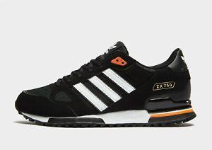 🔥 Adidas Originals ZX 750 ,Men's Trainers (UK 7 &  9 & 10.5 )-Black Brand New