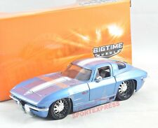 NEW 1/24 JADA 96808  Chevrolet Corvette Sting Ray 1963, blue
