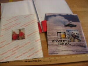 1980 Miss Budweiser Bernie Little racing folder Power Boat Thunderboats products