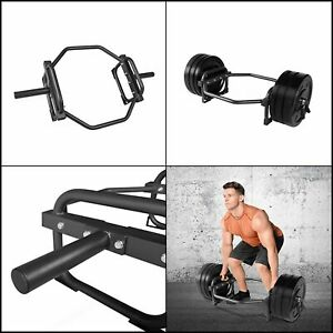 """Olympic Hex Shrug Deadlift Bar For 2"""" Weight Plates Full Body Workout 28 LBs"""