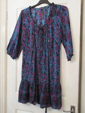 LADIES BLUE/PINK FLORAL A-LINE DRESS SIZE 20 BY EVANS