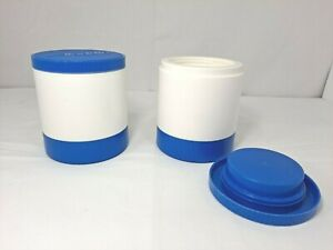 Lot 2 Set Aladdin Thermos Insulated Hot Cold Jar Soup Lunch Refreezable Lid 6 Oz