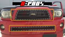 For Toyota Tacoma 2005 06 07 08 09 10 Black Wire Mesh Grille with Rivets Combo
