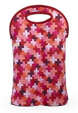 NWT BUILT NY NEOPRENE TWO BOTTLE TOTE INSULATED CARRIER-WINE/WATTER - POSITIVITY