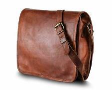 Men Vintage Leather Messenger Flap Genuine Business Laptop Briefcase Satchel Bag