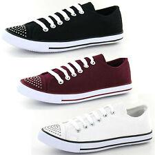 Wholesale Ladies Canvas Shoes /  16 Pairs /  Sizes 3-8  / F8955