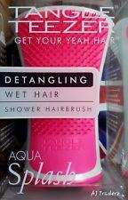 Tangle Teezer Aqua Splash Detangling Wet Hair Shower Hairbrush Pink.