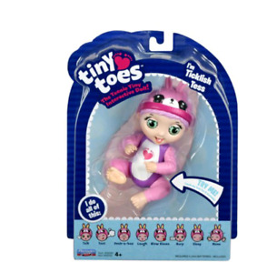 Tiny Toes TICKLISH TESS Baby Moves Pink Bunny New Responds to Touch Motion-New