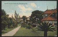 Postcard ST PETERSBURG Florida/FL  2nd Second Ave Large Family House/Home 1907