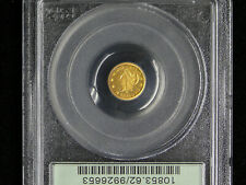 1870 Fifty 50c Cent California Gold 1/2 Dollar - OLD HOLDER PCGS MS-62 - BG-1024