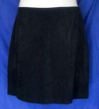 Michael Taylor Solid Black Faux Suede Career Skirt Straight Womens Size 22 2X